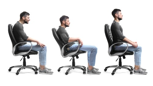 bad and proper sitting posture