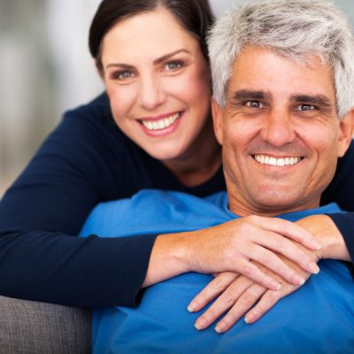 older man dating younger woman, happy