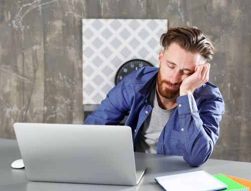 man fell asleep at work can improve with Progentra supplements