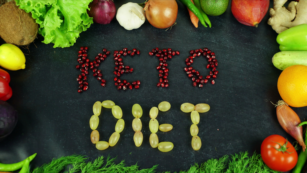 Ketogenic Diet spelled with food consumed by Progentra user