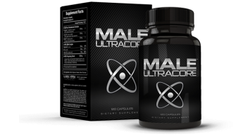 Box and Bottle of Male UltraCore Enhancement Supplements