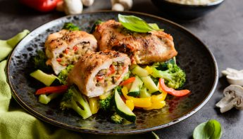protein packed stuffed chicken meal