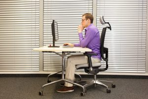 proper sitting posture while working