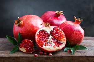 pomegranate seeds and fruit
