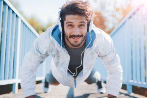 push up break on a run